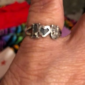 Sterling Silver Fashion I Love You Ring (925)
